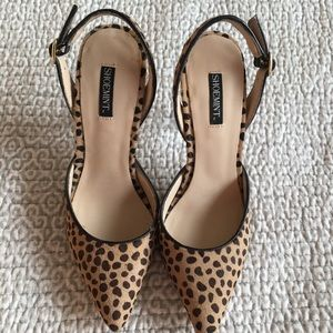 Leopard Print Shoe Mint Slingback Pumps